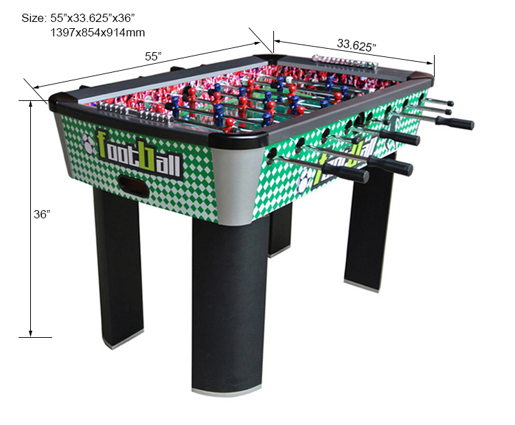 HPMCS5501 Is A Hot Selling Foldable Style Foosball Game Table. Its Length  Is 55u2033. The Size Is Suitable Adults And Kids Aged 10. It Has Two Plastic  Scorers ...