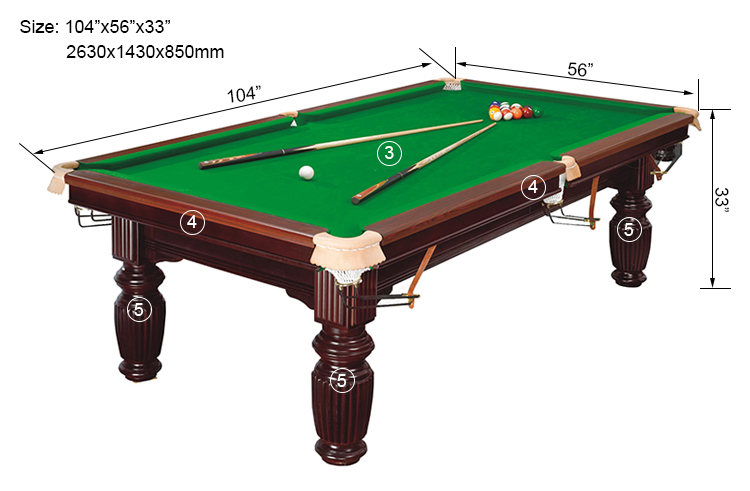 Wooden Standard Usa Snooker Table. HPDSB004 Is A Professional Billiard ...