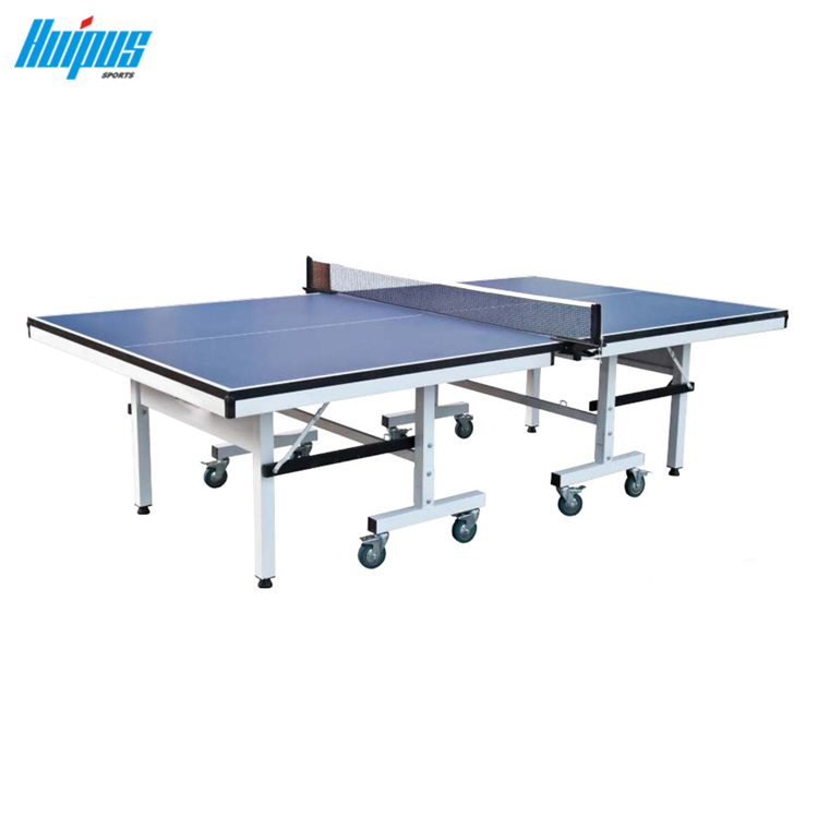 HPT005 Ping Pong Table Folding Table Tennis Table 1 Inch Pro Size Foldable  Easy Assembly Indoor Use With Free Paddles Balls And Net